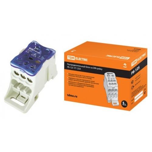 Распределительный блок на DIN-рейку РБ-125 1П 125А TDM SQ0823-0002