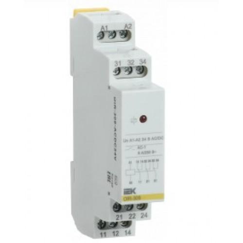 Промежуточное реле OIR 3 конт. 8А 24 В АС/DC OIR-308-ACDC24V ИЭК