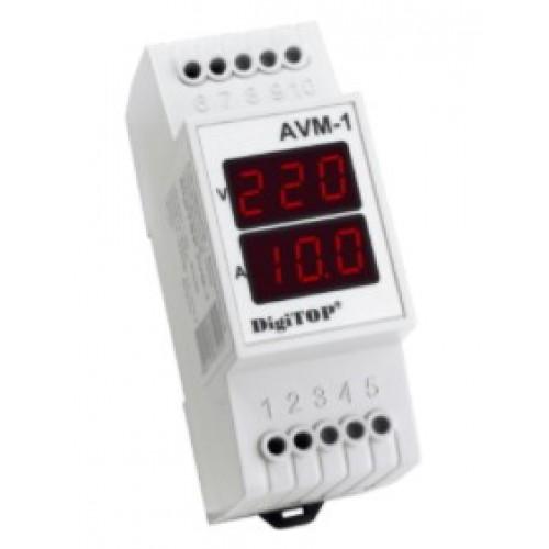 Амперметр-Вольтметр AVM-1 63A 40-400V DigiTOP РОСТОК-ЭЛЕКТРО