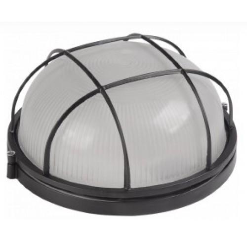 Светильник НПП1302 черный/круг с решеткой 60Вт IP54 ИЭК
