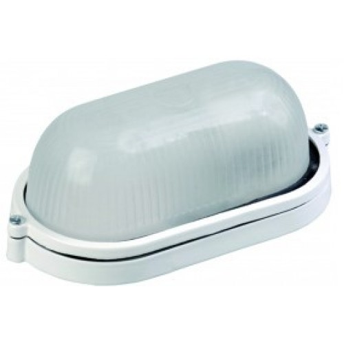Светильник НПП1403 белый/овал п/сфера 60Вт IP54 ИЭК