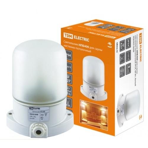 Светильник для сауны НПБ400 настенно-потолочный IP54 60W TDM SQ0303-0048