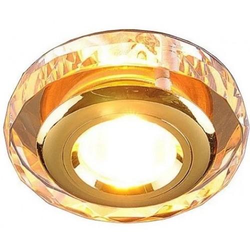 Точечный светильник 1056 зеркальный/золото (Clear/GD)