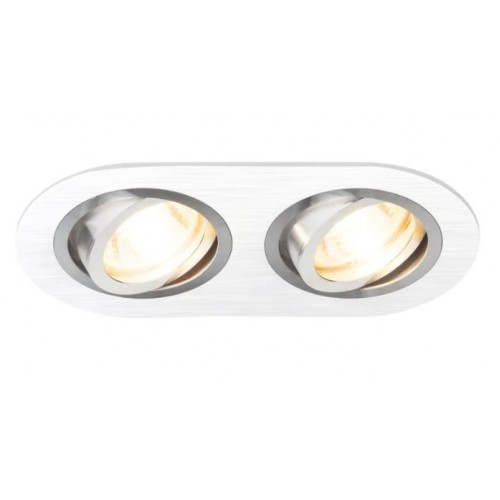 Точечный светильник 1061/2 MR16 WH белый двойной Эл/станд.
