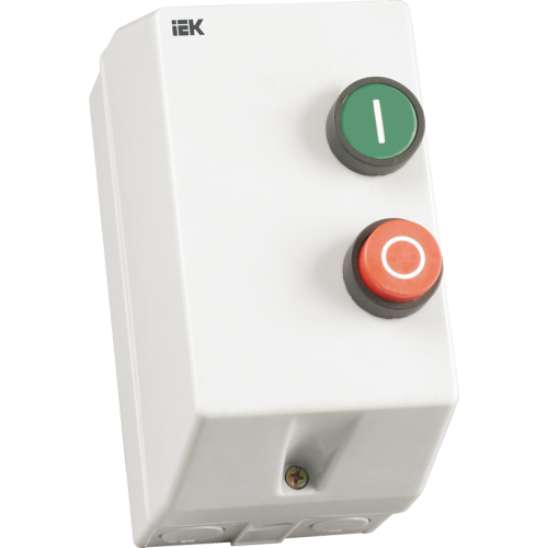 Контактор КМИ11260 12А в оболочке с кнопками управления 220В/АС3 IP54 П+С РТИ-1317 ИЭК KKM16-012-220-00