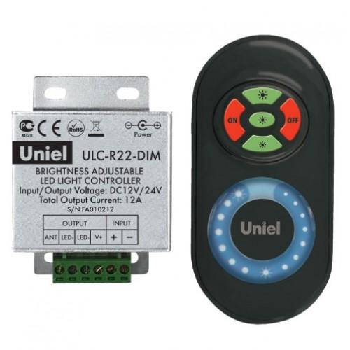 Контролер ULC-R22-DIM Black для управления яркостью одноцветной светодиодной ленты с пультом  05948 UNIEL