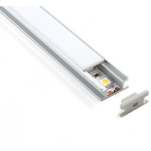 Встраиваемый напольный алюминиевый профиль для LED- ленты LL-2-ALP002
