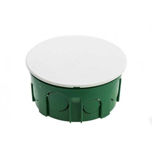 Коробки расп. круглая 90х48 зеленая с бел.крышкой Schneider