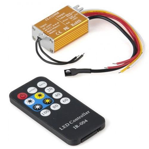 Контроллер DM-4AOW  c пультом для одноцветной ленты