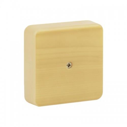 Коробка распаячная 100х100х30 сосна монотонная с винтом СВ-Профиль
