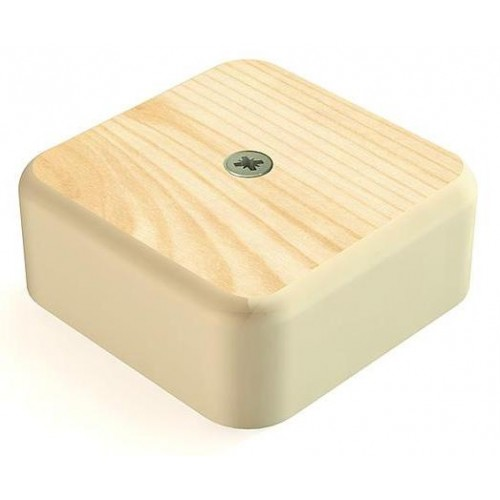 Коробка распаячная 75х75х20 сосна монотонная с винтом СВ-Профиль