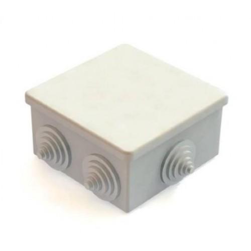 Коробка расп. ОП 100х100х50 cерая с крышкой 6 вводов IP55 Greenel GE41255