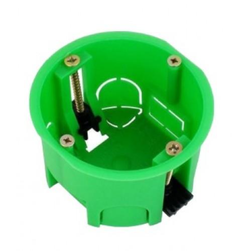 Коробка установочная для полых стен 68х40 зеленая (с саморез.,метал.лапки) HEGEL 1204
