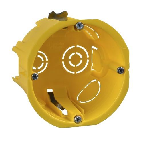 Коробка установочная для полых стен D68(65)х45мм, желтая  ГИПРОК SCHNEIDER IMT35150