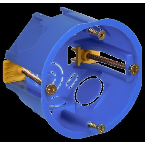 Коробка установочная для полых стен синяя СП 68х45
