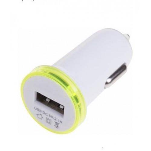 Автозарядка в прикуриватель USB (АЗУ) 5V 2100mA белая REXANT