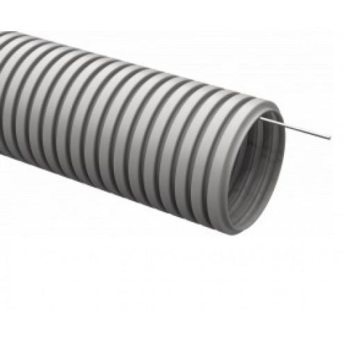 Труба гофрированная ПВХ d16 с зондом серая (100м в уп.)
