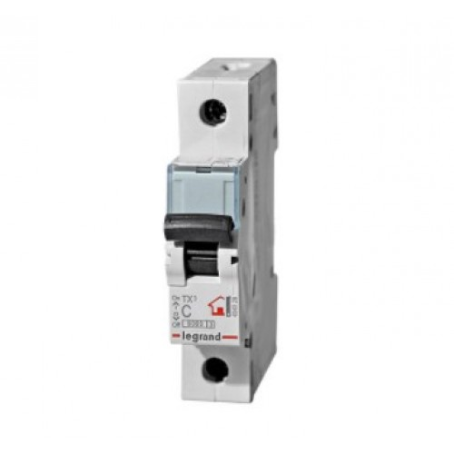 Автоматический выключатель LEGRAND С10А 1P 6kA TX3 404026А