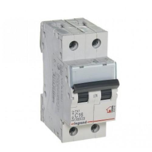 Автоматический выключатель LEGRAND С16 2Р ТХ3 6кА 404042