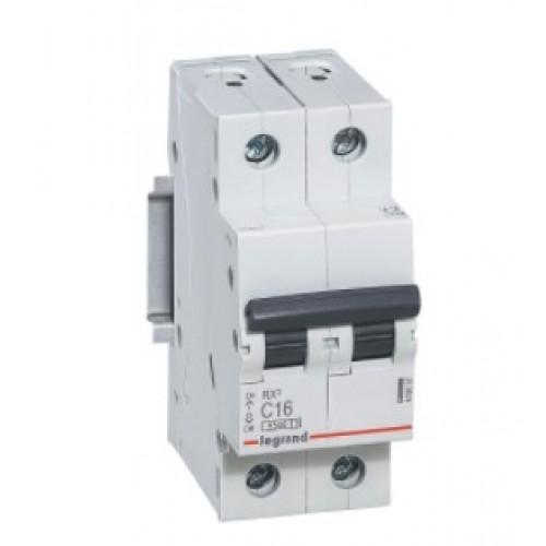 Автоматический выключатель LEGRAND С16А 2P RX3 4500 419697