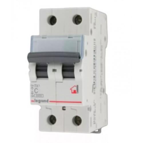 Автоматический выключатель LEGRAND С25 2Р ТХ3 6кА 404044