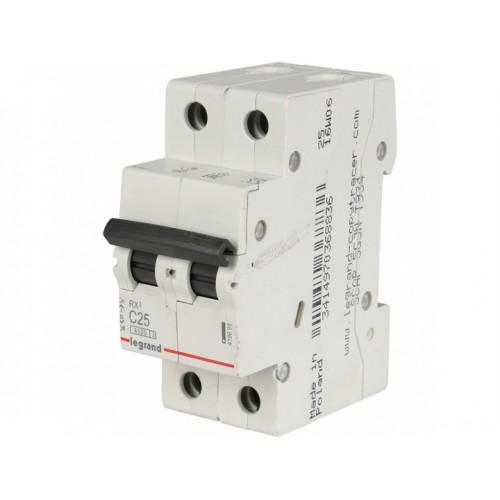 Автоматический выключатель LEGRAND С25А 2P RX3 4500 419699