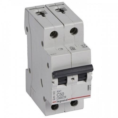 Автоматический выключатель LEGRAND С50А 2P RX3 4500 419702