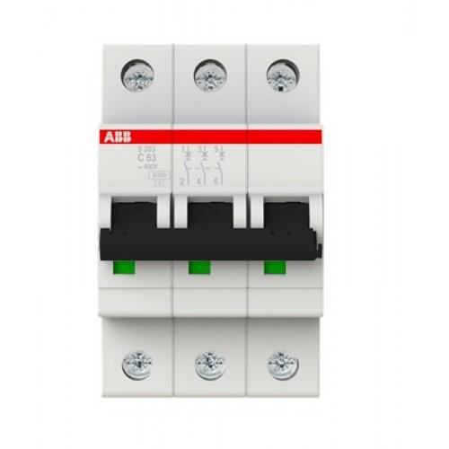 Автоматический выключатель ABB S203 C63