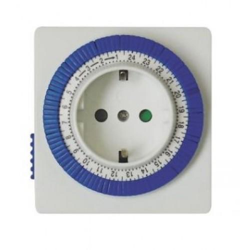 Таймер-розетка суточная механическая TM32 IP20 16A 3500 W Feron