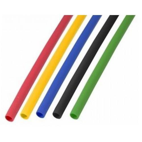 Термоусадочная трубка 6,0/3,0 мм 5 цветов в ассортименте 1м (50шт./уп.)  REXANT 29-0156
