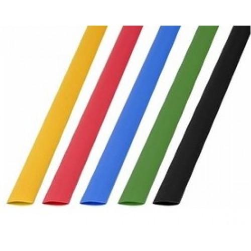 Термоусадочная трубка 8,0/4,0 мм 5 цветов в ассортименте 1м (50шт./уп.) REXANT 29-0158