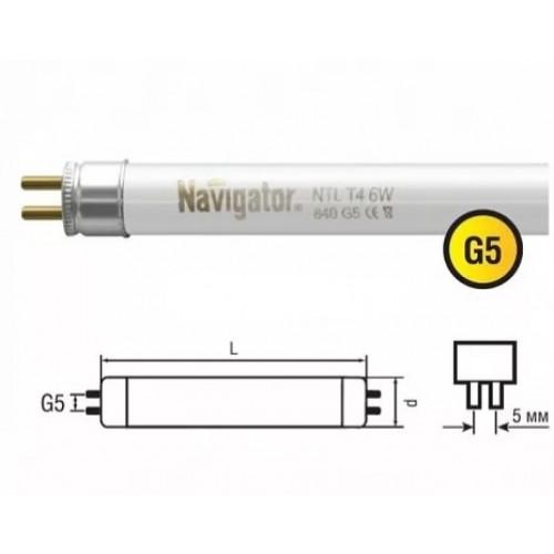Лампа люминесцентная линейная 94116 NTL-T4-24-860-G5 24W Navigator