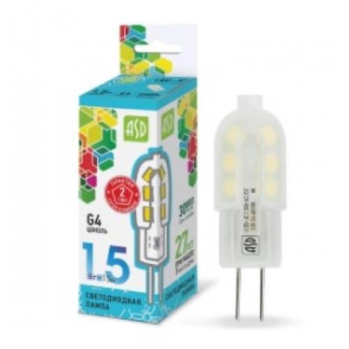 Лампа светодиодная 12V LED-JC-standard 1,5W G4 4000K ASD