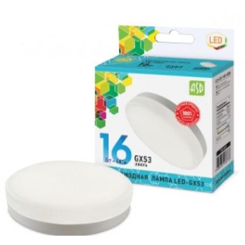 Лампа светодиодная LED-GX53-standard 16W 230V 4000K ASD