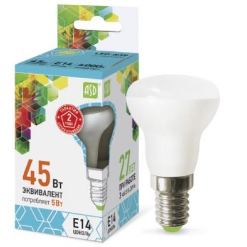 Лампа светодиодная LED-R39-standard (рефлектор) 5W 210-240B E14 4000K ASD