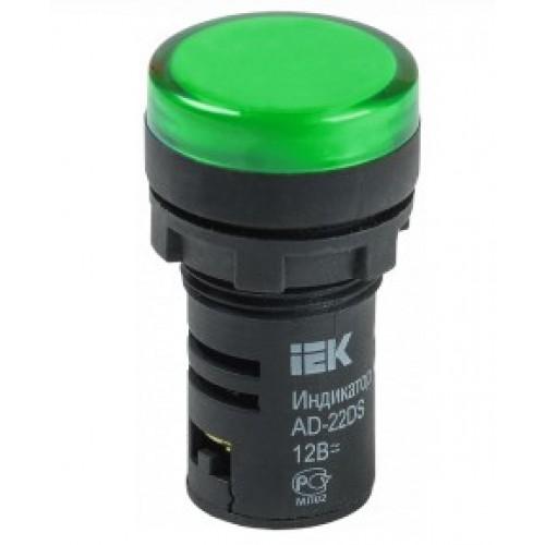 Лампа сигнальная AD22DS (LED) матрица d22 mm зеленый 230В ИЭК