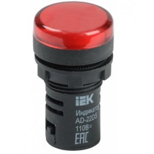 Лампа сигнальная AD22DS (LED) матрица d22 mm красный 230В ИЭК
