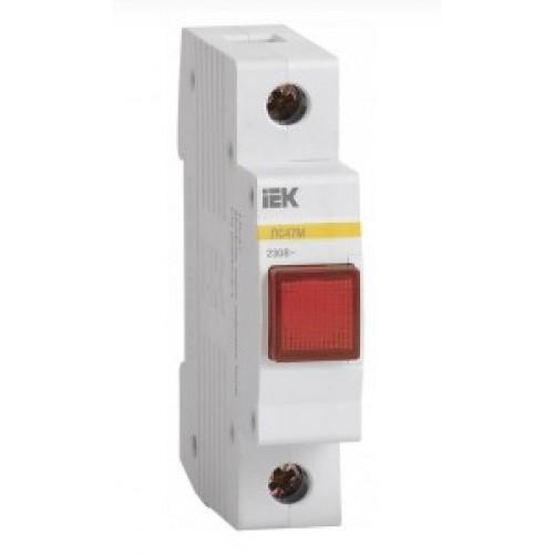 Лампа сигнальная ЛС-47М красная, матрица ИЭК