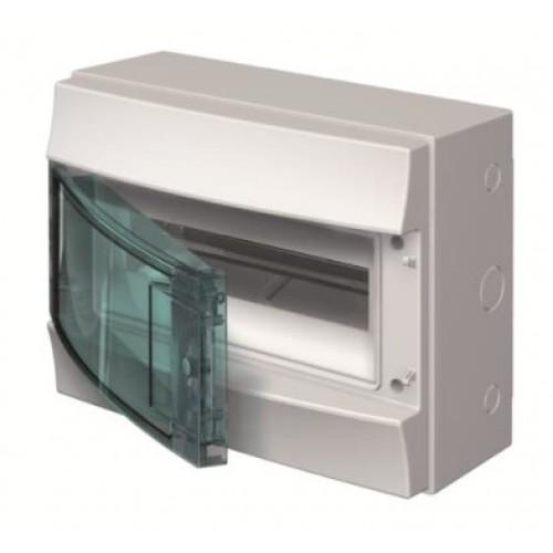 Бокс ОП навесной Mistral41 12M прозрачная зеленая дверь (с клем.) АВВ