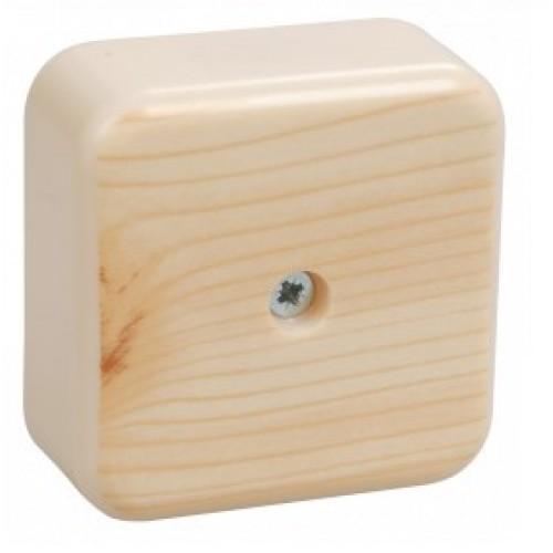 Коробка распаячная КМ41206-04 для о/п 50х50хх20 сосна (с конт. груп.)