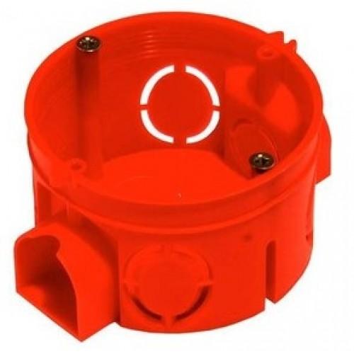 Коробка установочная для твердых стен глубокая 64x62 с саморез. красная 1104