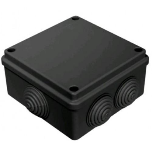 Коробка распаячная ОП 100х100х50 безгалогенная черная промрукав 40-0300-9005 (60шт/уп)