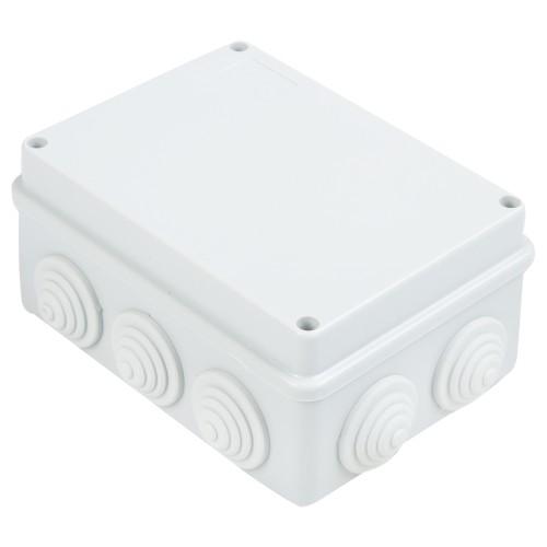 Коробка распаячная ОП 260х175х90 cерая 10 вводов IP55 Промрукав 40-0335 (7шт/уп)