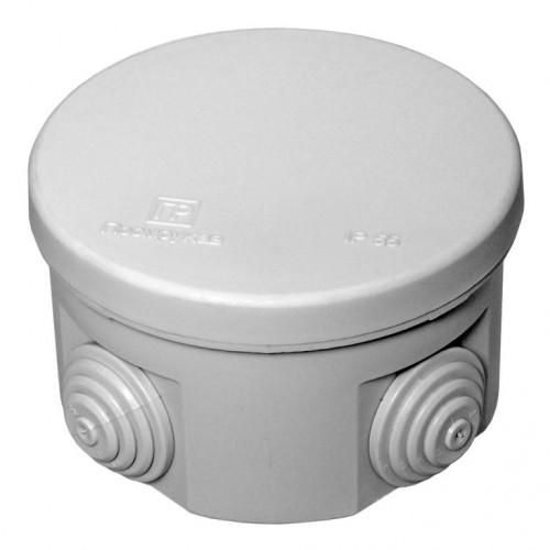 Коробка распаячная ОП 65х40 cерая с крышкой 4 ввода IP55 Промрукав 40-0100