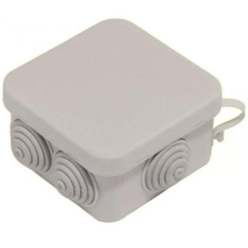 Коробка распаячная ОП 70х70х40 черная 6 вводов IP55 Промрукав 40-0200-9005 (132шт/уп)