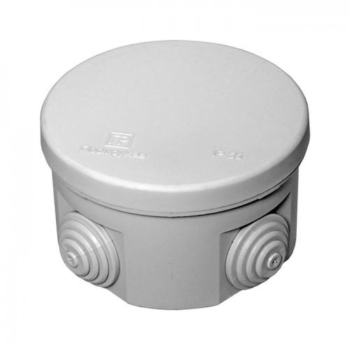 Коробка распаячная ОП 80х50 cерая с крышкой 4 ввода IP55 Промрукав 40-0120