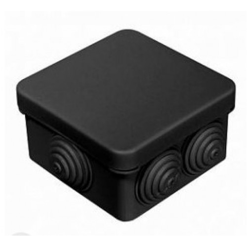 Коробка распаячная ОП 80х80х40 черная 7 вводов IP55 Промрукав 40-0210-9005 (105шт/уп)