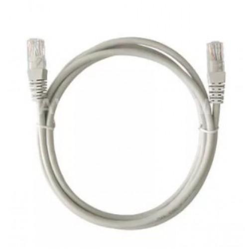 Шнур компьютерный (PATCH CORDS) UTP кат.5е, 1м, неэкранированный, серый REXANT