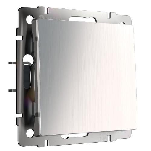 Выключатель 1кл. проходной глянцевый никель  WL02-SW-1G-2W WERKEL