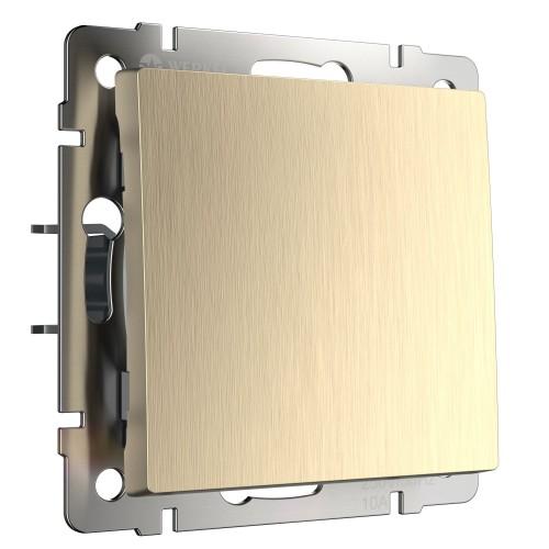 Выключатель 1кл. проходной с подсветкой шампань рифлёный WL10-SW-1G-2W-LED WERKEL